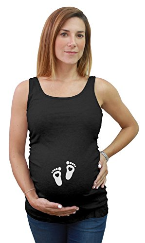 Tstars - Maternity mom to be Love Baby Cute Footprints...