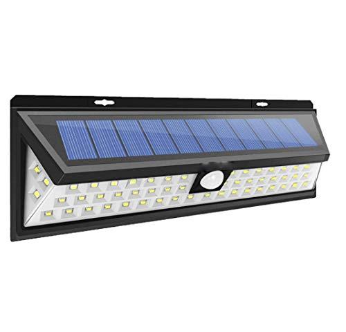 WFTD Solar Leuchten Im Freien, 54 LED-Drahtlose Weitwinkel-Bewegungs-Sensor-Leuchten, Super Brightsecurity Wasserdichte Wandleuchten Für Garage Patio Garden Einfahrt Hof,90LED