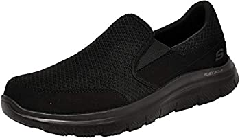 Skechers Men's Black Flex Advantage Slip Resistant Mcallen Slip On - 10.5 D(M) US