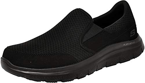 Skechers Men's Black Flex Advantage Slip Resistant Mcallen...