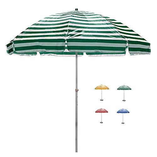 ZEH Parasol Exterior 250cm Costillas Paraguas del Parasol de Playa de 4 mm de Acero for la terraza/jardín/Piscina/Playa FACAI (Color : C)