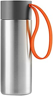 Eva Solo 567463 Flask (Grey, Orange, Stainless Steel, Plastic, Silicone, Stainless Steel)