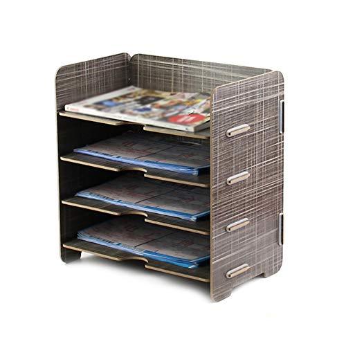 Estante de archivo Bandeja de papel for rack de almacenamiento de documentos - Organizador...