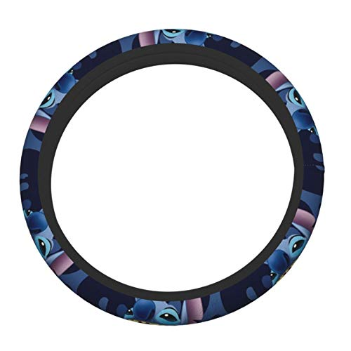 YUELIZHOU Lilo Stitch Steering Wheel Cover,Car Steering Wheel Cover for Women and Men,Neoprene, Universal 15 Inch, Anti-Slip-Breathable-Durable