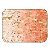 N/A Felpudo Antideslizante con patrón geométrico para Cocina, baño y Sala de Estar, Lavable a máquina (sin Marco)