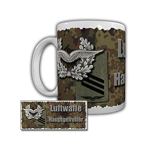 Luftwaffe Hauptgefreiter Bundeswehr HptGefr HG Jagel Dienstgrad Tasse #29203