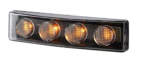 Lámpara LED naranja de techo de cabina delantera de esquina Scania G P R T parasol de 12 V 24 V con marca E OEM Reemplaza 1798981 1910437
