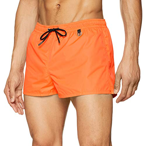 HOM Herren Sunlight Beach Shorts Badeshorts, Orange (Orange Fluo 00jx), Small