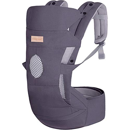 TIANCAIYIDING Baby Carrier with Adjustable Hip Seat&Hood for Newborn Infant...
