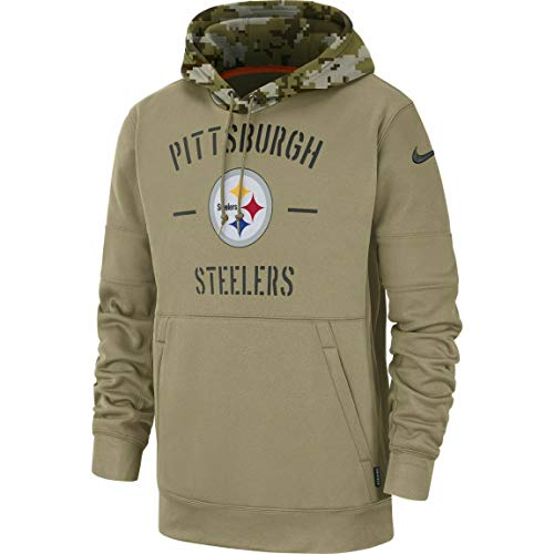 Nike Pittsburgh Steelers 2019 Men's NFL Salute to Service Tan Hoody (Large)