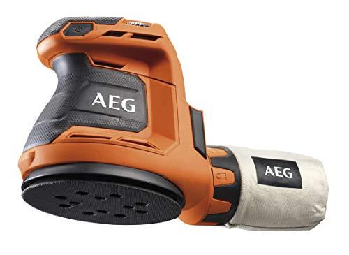 AEG Akku-Exzenterschleifer 18 V mit Klettbefestigung, Griff mit Softgrip, mit Staubbeutel, ohne Akku - BEX18-125-0