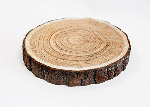 Rodaja de madera rústica para decoración de centro de mesa