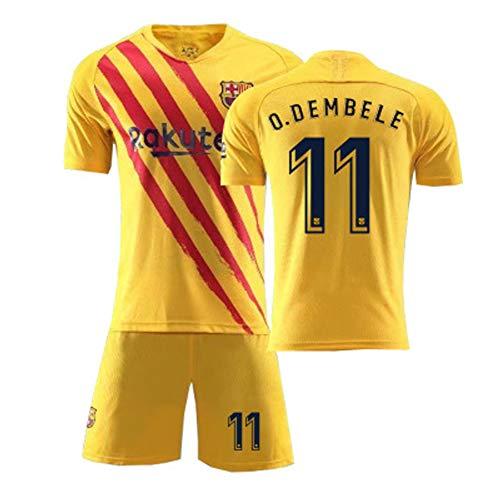 SVVS 11# O.Dembele Fußballtrikot Herren-Sporthemd Outdoor-Sport-Unterhemd Kinder- und Jugendreise Kurzarm Geeignet für Fußballtraining Feuchtigkeitsaufnahme-Yellow-M