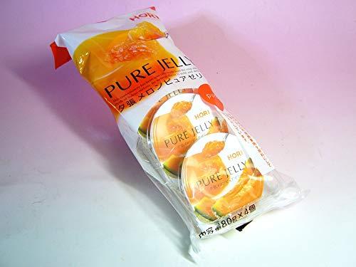 ホリ 夕張メロンピュアゼリー 80g×4個入り(袋)