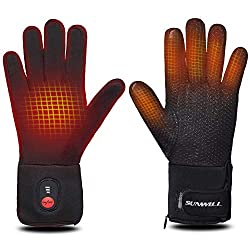 Sun Will Electric Heated Gloves for Men Women , Rechargeable Heated Winter Gloves for Outdoor Bicycle Motorbike Ski Snowdoard Hunting
