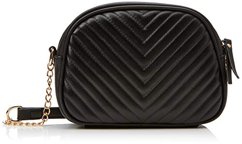Dorothy Perkins Womens Quilted Chain Cross-Body Bag Black (Black)