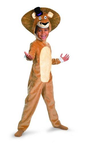 Madagascar 3 Alex The Lion Deluxe Costume, Brown/Tan, Medium