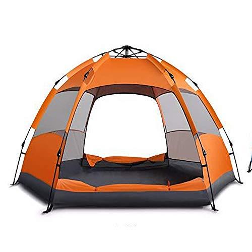 YGRSJ Outdoor-Pop-up-Zelt, wasserdichtes Zelt quadratisches Zelt Markise Camping Zelt 3-4 blau orange,Blue