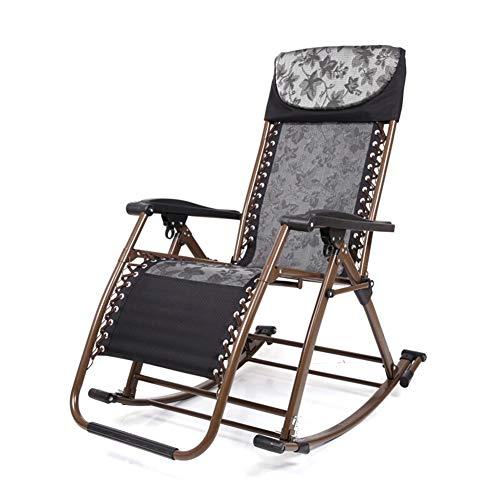 Gartenstuhl Klappstuhl Lounge Chair Schaukelstuhl Outdoor-Strandkorb Kann for Schlafzimmer Wohnzimmer Strand Sonnenbaden verwendet Werden (Color : Black)