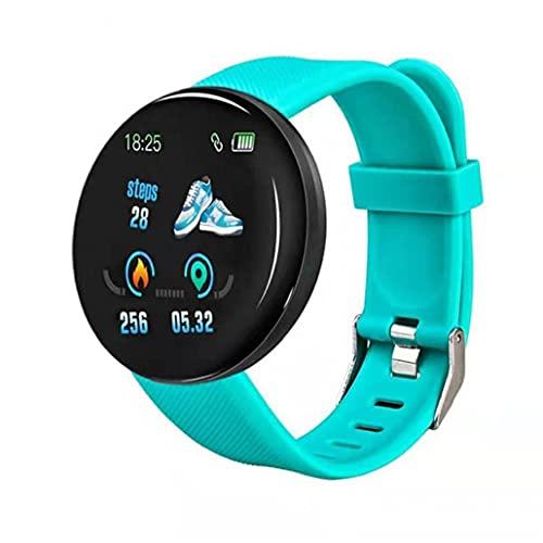 Inteligente venda de reloj del reloj de la aptitud del perseguidor impermeable reloj elegante reloj inteligente D18 Ronda Heart Rate Measure Hombres Mujeres Niños electrónico verde Equipamiento