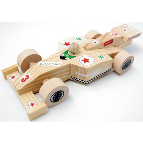 EDUPLAY Holz Rennauto zum Basteln 10er Set