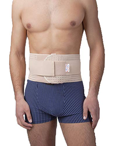 Premium Quality breathable umbilical hernia belt for men and women with support pad. Abdominal Support Binder Navel Ventral Epigastric Incisional and Belly Button Hernias (#6 for Waist Circumference: 45-49 inch (115-125cm))