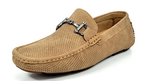 Bruno Marc Men's Ralph-01 Khaki Driving Loafers Moccasins Shoes – 7 M US