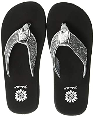 Yellow Box Women's Feliks Sandal, Silver, 6.5 M US