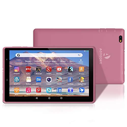 Tablet 8 Pollici,3 GB RAM + 32 GB ROM/128GB, Android 10.0 Certificato da Google GMS Tablet Pc,800 * 1280 IPS, WiFi |Bluetooth-Rosa