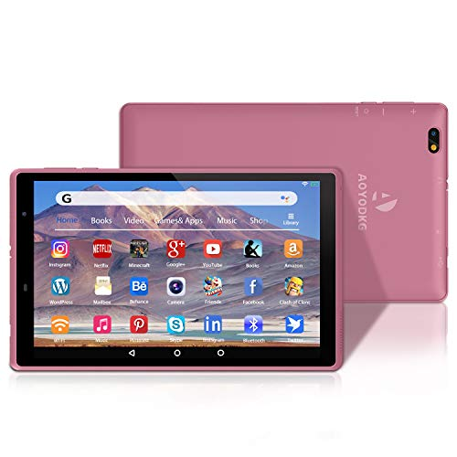 Tablet 8 Inch Android 10 Tablet PC, 3 GB RAM 32 GB ROM/ 128GB Expansion, Quad-Core, Google GMS Certified, 1280×800 HD IPS WiFi Tablet, Dual Camera, 5000 mAh, Type C, Bluetooth, FM