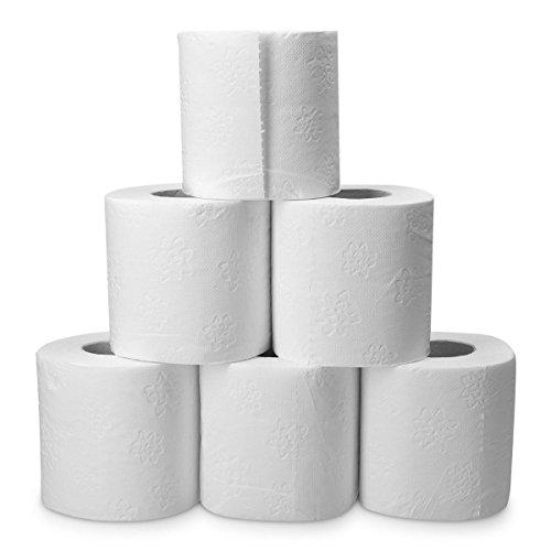 96 Rollen HSM Toilettenpapier 3-lagig Klopapier WC-Papier Papierhandtücher Papier