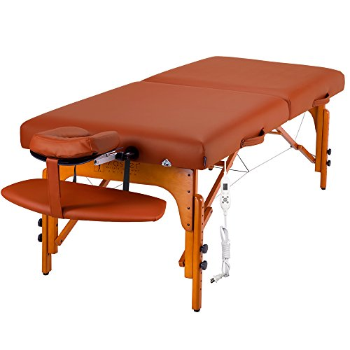 """Hot Sale Master Massage 31"""" Santana Therma Top LX Portable Massage Table Package (with FREE Carrying Case, Bolster, Spa Music CDs and Pillow Covers)"""