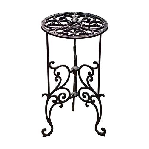 MMWYC Classico Modello Fusioni Stand Ferro Fiore, Giardino Outdoor Rotonda Side Table for Balcone Terrazza 19.3 * 11.0 * 11.0in