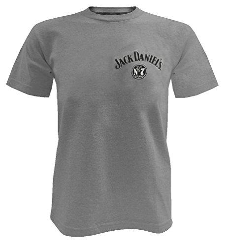 Jack Daniels Men's Daniel's Grey Whiskey Short Sleeve T-Shirt Grey XX-Large