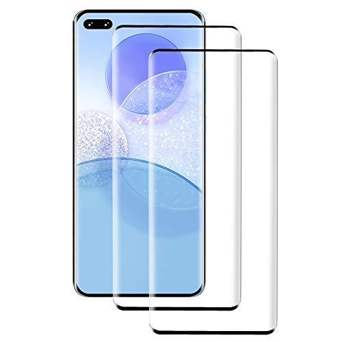 PUUDUU Cristal Templado para Huawei P40 Pro, [2 Piezas] Cobertura Completa, Resistente a Los Arañazos, Sin Burbujas, Película Protectora de Vidrio Templado para Huawei P40 Pro