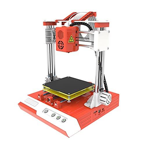 Mini impresora 3D - K1 Desktop Mini Kit de impresora de escritorio 3D, tamaño de impresión de 100X100X100 mm, impresoras 3D de bricolaje para la educación del hogar(EU)
