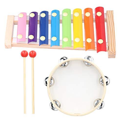 Práctico xilófono de 8 tonos para amantes de la música para entretenimiento familiar