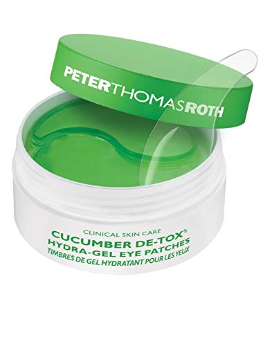 Peter Thomas Roth Roth Cucumber Detox Hydra-Gel Eye Patches 30 Pairs60 Tappo per orecchie, 4 cm, Nero (Black)