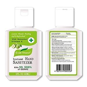 Dowager Botanical Hand Sanitizer Gel,60ml/2oz Free Foaming Hand Sanitizer,No Rinse Foam Hand Soap Gel,Kid Friendly,Travel Size with Moisturizing Formula (Green)