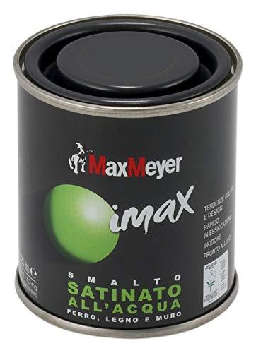 MaxMeyer Smalto satinato all'acqua per ferro e legno Imax BIANCO NEVE 0,125 L