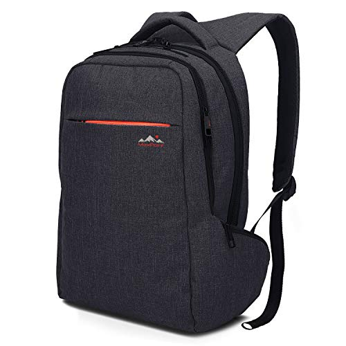 MaxPoint 15.6 inch Tear/Water Resistant Slim Laptop Backpack for Men and Woman – Backpack Laptop with Anti-Theft Zipper for Your Safety – Best Laptop School and College Backpack for Boys – Dark Grey