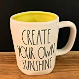 Rae Dunn CREATE YOUR OWN SUNSHINE Mug - yellow interior - Ceramic - very rare!