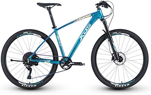 Aluminum 11 Speed Mountain Bike, 27.5 Inch Big Wheels Hardtail Mountain Bike, Mens Mountain Trail Bike, Adjustable Seat (Color : 17 Inches)