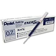 Pentel LR7-CX Nachfüllmine für EnerGel-Stifte,  0,7 mm Kugelspitze, blau, 12 Stück