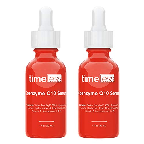 Timeless Skin Care Coenzyme Q10 Serum - 1 oz, Pack of 2 - Powerful Anti-Aging Formula with Coenzyme Q10, Matrixyl 3000 & Hyaluronic Acid - Restore & Replenish Skin, Smooth Wrinkles - All Skin Types
