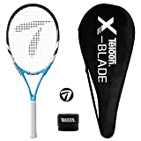 Teloon Recreational Adult Tennis Rackets-27 inch Tennis Racquet for Men and Women College Students Beginner Tennis Racket. (V1-Blue and Black)