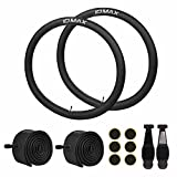 IDMAX 26 Inch Bike Tube, 26'' x 1.95/2.10/2.125 Replacement Inner Tire Tubes 2 Pack, Heavy Duty Thorn Resistant Inner Tire with Repair Tool Kit, Schrader Valve, Premium Quality Butyl Rubber Made