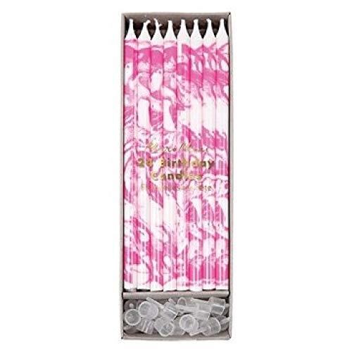 Meri Meri - Velas con efecto mármol, color rosa