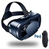 Yuxahiuguj vr Headset ETVR 3D Movies Games Glasses VR Box Google Cardboard Immersive Virtual Reality Headset with Controller Fit 5-7 inch Smart Phone