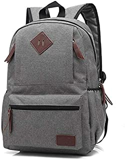 YYuzhongfenM Men and Women's Fashion Student Bag Neutral Solid Color Oxford Backpack (Color : Gray)